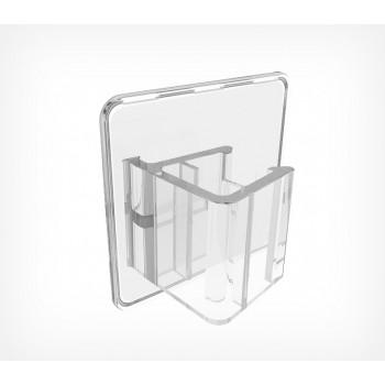 Клипса для крепления пластиковых рамок больших форматов под углом 0° к поверхности