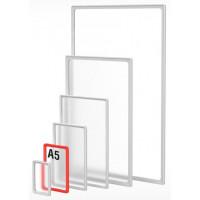 Пластиковая рамка с закругленными углами формата А5