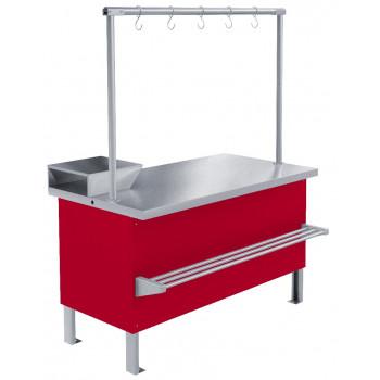 Прилавок холодильный среднетемпературный «Мясной» ПХС-1,55/0,85 (выносное холодоснабжение)