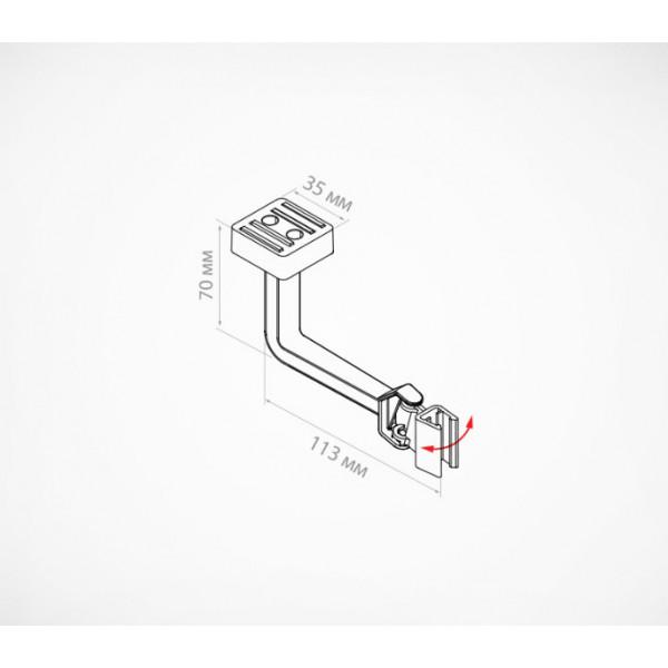 Маятниковый магнитный держатель для пластиковых рамок