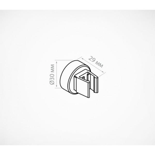 Круглый магнитный держатель рамки под углом 90˚ к поверхности