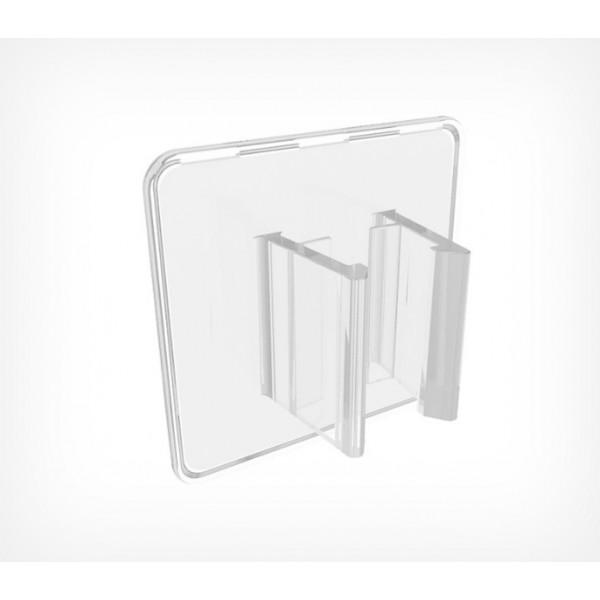 Клипса для крепления пластиковых рамок больших форматов под углом 90° к поверхности