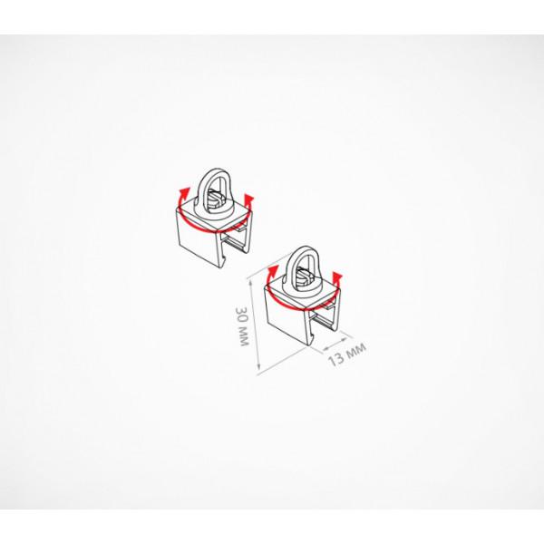 Клипса с поворачивающейся петлей для подвешивания рамок