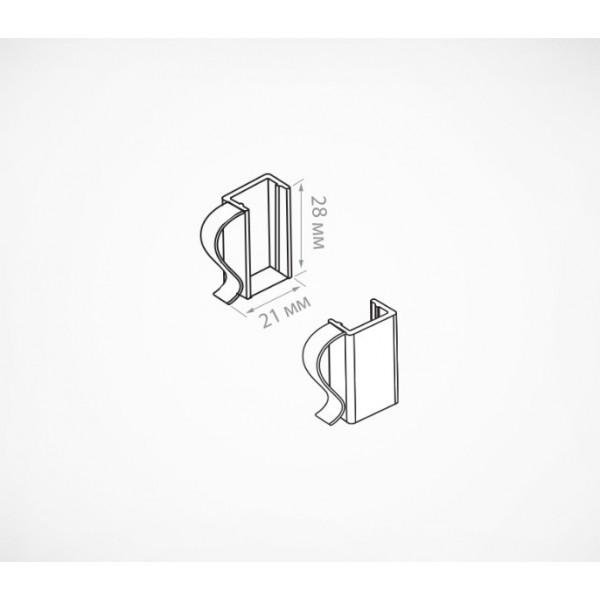 Клипса для крепления рамок на проволочные корзины