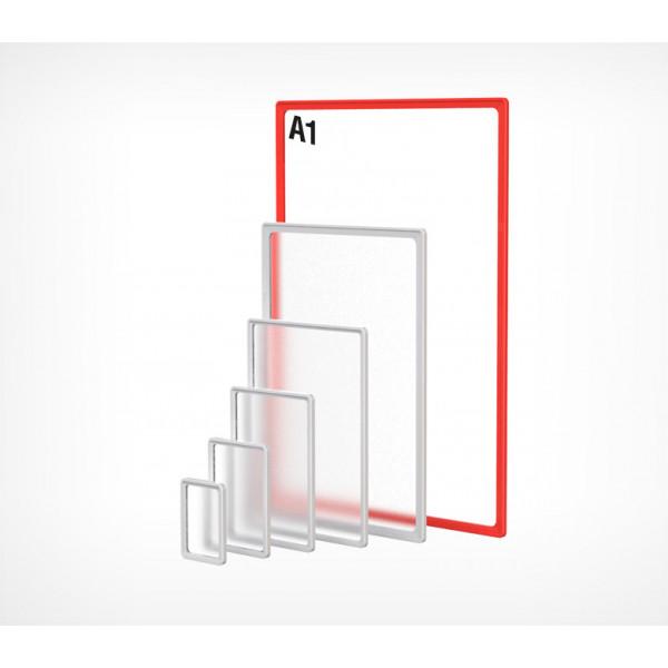 Пластиковая рамка с закругленными углами формата А1