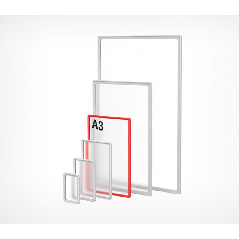 Пластиковая рамка с закругленными углами формата А3