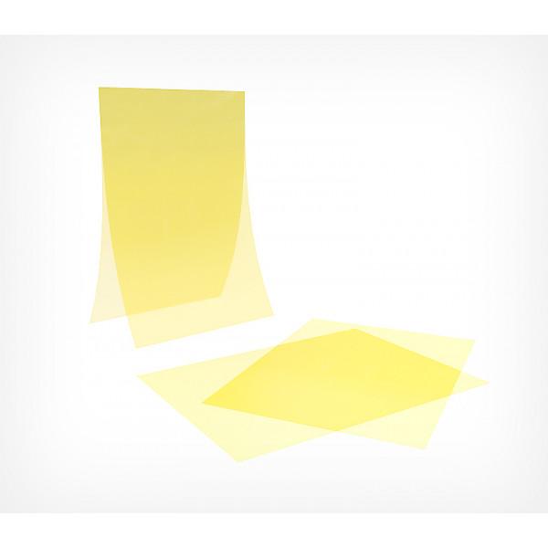 Пластиковый антибликовый карман-протектор А5 желтый