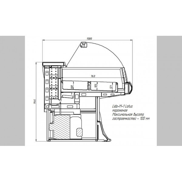 Витрина для мороженного Lida Lotus M-1.5