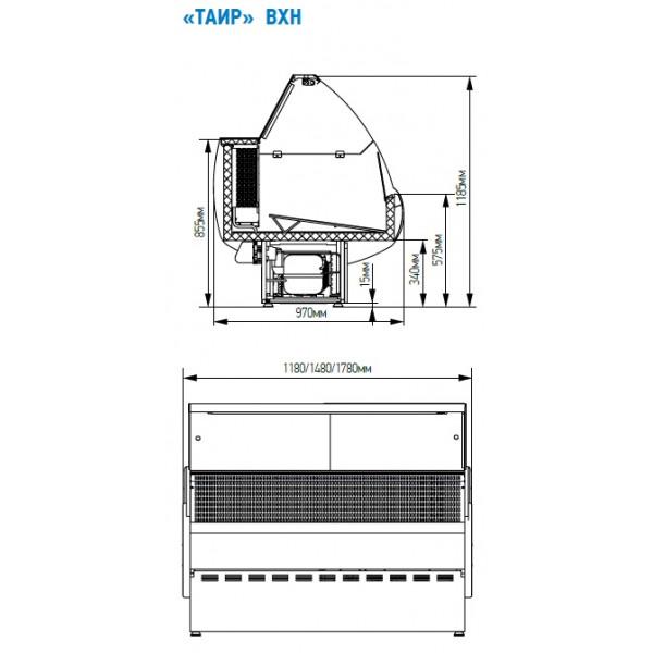 Морозильная витрина ТАИР ВХН-1.2
