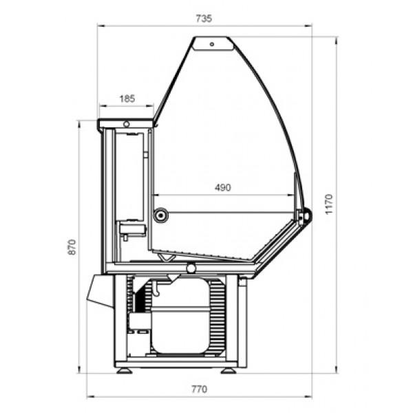 Низкотемпературная витрина НОВА ВХН-1.8 от завода МариХолодМаш