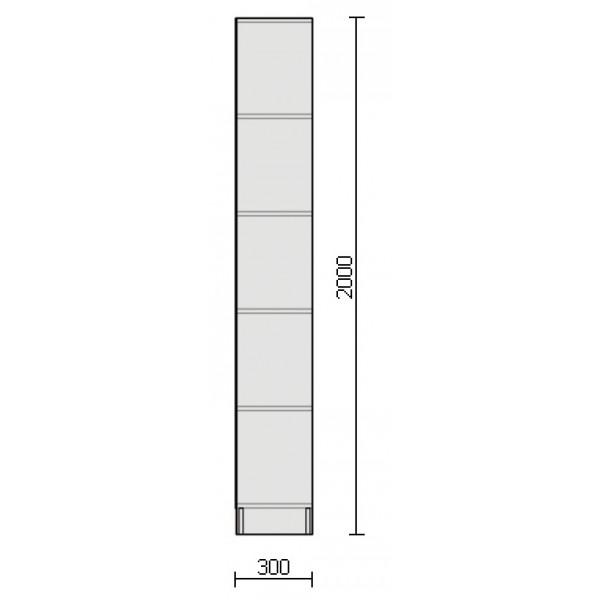 Стеллаж торговый 2000х850х300 мм