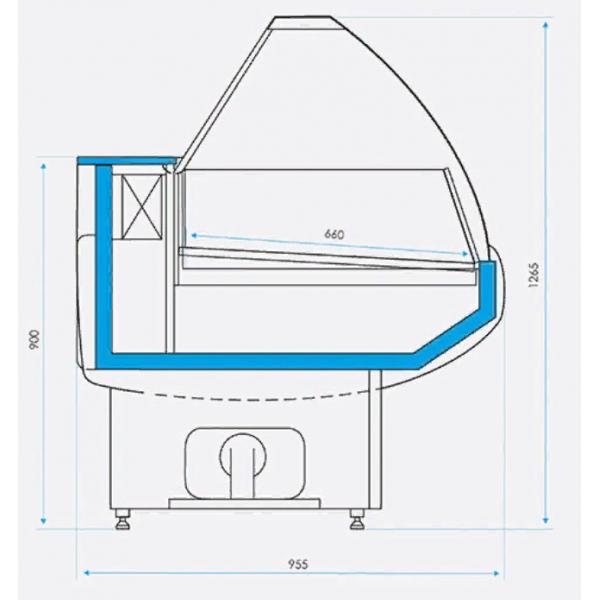 Octava SN 1800 Cryspi витрина холодильная
