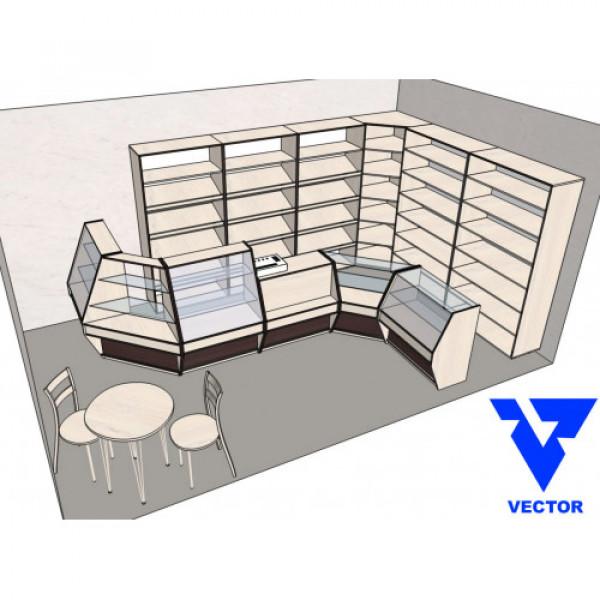 Мебель торговая для магазина продуктов.