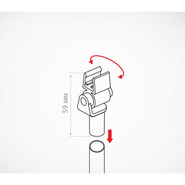 Насадка на трубку с поворотным держателем пластиковой рамки