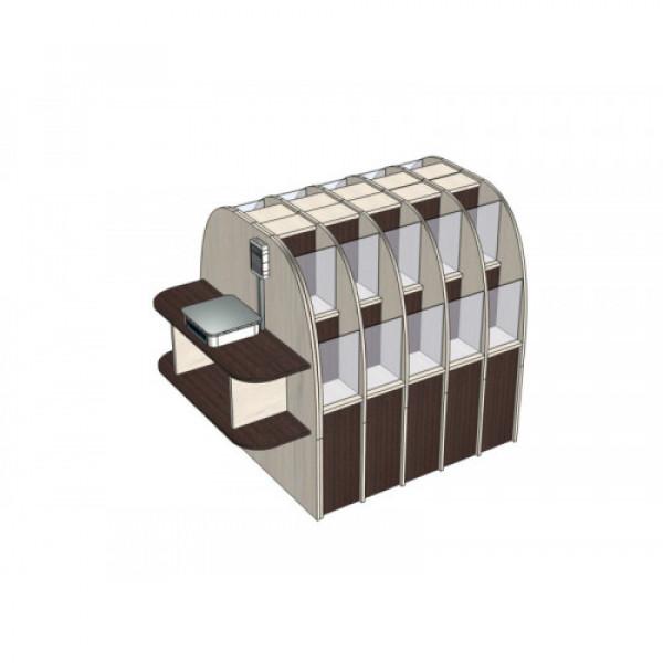 Диспенсер для демонстрации и продажи конфет островной (вариант 2)