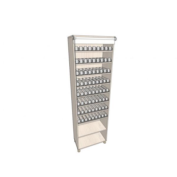 Сигаретный шкаф на 720 стандартных пачек сигарет/72 вида